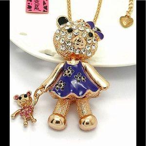Crystal doll  bear necklace!